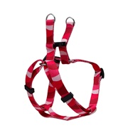Dogit Style Adjustable Dog Step In Harness,  Wild Stripes, Red, Small