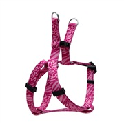 Dogit Style Adjustable Step In Dog Harness, Jungle Fever, Pink, XX-Small