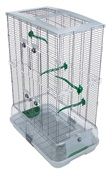 Vision Bird Cage for small birds (M02)- Double height, Small wire- Size: 61 x 38 x 87.5 cm (24 L x 15 W x 34.5 in H)