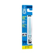 "Catit Adjustable Nylon Cat Collar with Breakaway Snap, Blue. Size: 9.5mm (3/8"") x 20cm-33cm (8-13"")."