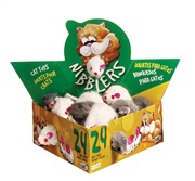 Catit Nibblers Fur Mice Cat Toy, Deluxe Fur Mice Display Box, 24 small mice