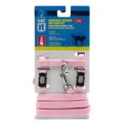 Catit Adjustable Nylon Cat Harness & Leash Set, Pink, Large