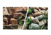 """Marina Double Sided Aquarium Background, Rocky Canyon/Riverbed, 45.7 cm X 7.6 m (18"""" X25 ft)"""