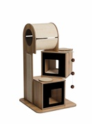 Vesper V-Tower - Black - 65 x 65 x 117.5 cm
