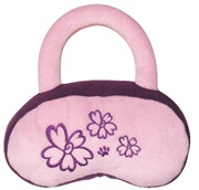 "Dogit Luvz Plush Dog Toy, Pink/Purple Purse (18cm/7"")"
