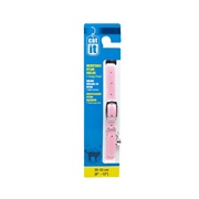 "Catit Buckle Nylon Cat Collar, Pink. Size: 9.5mm (3/8"") x 20cm-33cm (8-13"")."