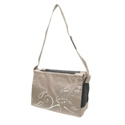 Dogit Style Nylon Messenger Dog Carry Bag, Butterfly, Beige (for small dogs up to 9kg/20lbs)