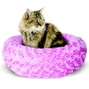 "Catit Style Cat Donut Bed-Rosebud, Pink, Small. 40cm dia. x 12.7cm (16"" dia x 5"")."