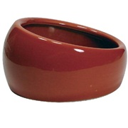 Living World Ergonomic Dish Small, 120 mL (4.22 oz) Terra Cotta/Ceramic