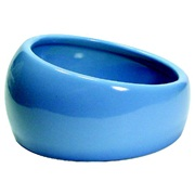 Living World Ergonomic Dish - Small - 120 mL (4.22 oz) - Blue/Ceramic