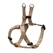 Dogit Style Adjustable Step In Dog Harness, Jungle Fever, Beige, Small