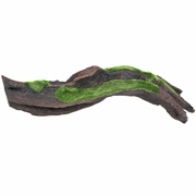 "Fluval Black Driftwood Replica with Moss - Large - 43.5 x 14.5 x 10 cm (17.1"" x 5.7"" x 3.9"")"