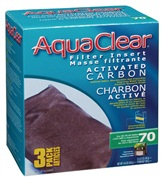 AquaClear 70 Activated Carbon Filter Insert 3 pack, 420 g (14.8 oz)