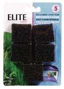 Elite Mini Underwater Filter Replacement Foam,5 pack