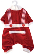 Dogit Christmas 2010 Small Dog Clothing Collection - Santa Pyjamas, Red,  Large