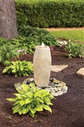 Laguna Elegant Fountain Ornament - Sand Stone