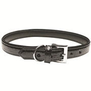 Dogit Style Faux Leather Dog Collar-Milano, Black, Small