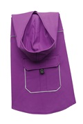 Dogit 2010 Spring/Summer Collection - Vinyl Hooded Raincoat, Purple - Medium
