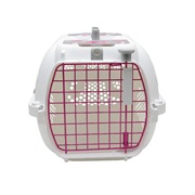 Catit Style Profile Voyageur Cat Carrier - Pink Ribbon, Small (48.3 cm L x 32.6 cm W x 28 cm H / 19in x 12.8in x 11in)