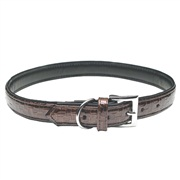 Dogit Style Faux Leather Dog Collar-Milano, Brown, Medium