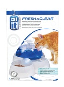 Catit Design Fresh & Clear Cat Drinking Fountain with Food Bowl
