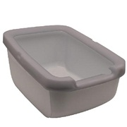 Catit Rimmed Cat Pan, Warm Gray
