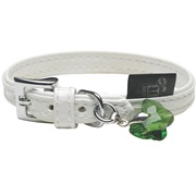 Dogit Style Faux Leather Dog Collar-Milano, White,Xsmall, 20 cm (Teacup size)
