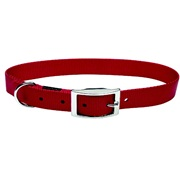 "Dogit Single Ply Nylon Dog Collar with Buckle- Red, XLarge (65cm/26"")"