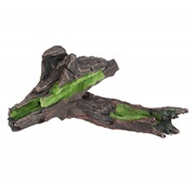 "Fluval Black Driftwood Replica with Moss - Large - 28 x 20 x 8 cm (11"" x 7.9"" x 3.1"")"