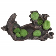 "Fluval Black Driftwood Replica with Moss - Large - 28.5 x 17 x 10 cm (11.2"" x 6.7"" x 3.9"")"