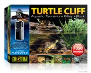 Exo Terra Turtle Cliff Aquatic Terrarium Filter + Rock Large