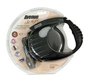 Avenue Dog Retractable Tape Leash, Black, Extra Large (6m/19ft)