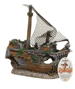 "Marina Polyresin Ornament,""Sunken Galleon"", Large"