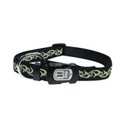 Dogit Style Nylon Ribbon Dog Collar-Inked, Lime, Small