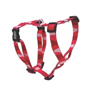 Dogit Style Adjustable Dog Harness, Wild Stripes, Red, Medium