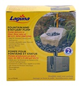 Laguna submersible water pump, for use in fountains, statuary and hydroponics.