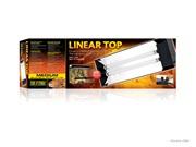 "Exo Terra Linear Top - Medium - 23.6""- 60 cm - holds 2 x 15 W (18""/45 cm) Linear Tubes"