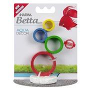 Marina Betta Aqua Decor Ornament - Circus Rings