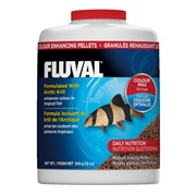 Fluval Colour Enhancing Medium Sinking Pellets - 340 g (12 oz)