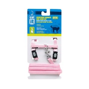 Catit Adjustable Nylon Cat Harness & Leash Set, Pink Medium