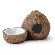 Exo Terra Coconut Hide with Water Dish