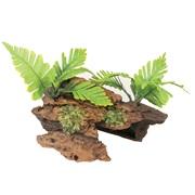 Marina Naturals Malaysian Decorative Driftwood with Plants, Medium