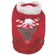 Dogit Christmas 2012 Small Dog Toy & Apparel Collection - Reindeer Hoodie, X-Small
