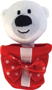 Dogit Christmas Luvz Dog Toy - Present Toy, Polar Bear