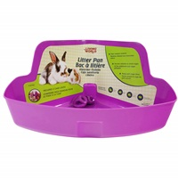 Living World Corner Litter Pan - 42.5 x 29.2 x 20.3 cm (16.7 x 11.5 x 8)