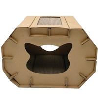 Cat Love Cozy Scratcher Den with Catnip - 50 x 38 x 35 cm (19.64 x 14.9 x 13.7 in)