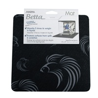 Marina Betta Mat Black 8in x 8 In
