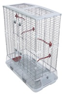 Vision Bird Cage for Large Birds (L12) - Double Height - Large Wire - 75 x 38 x 92.5 cm (29.5 L x 15 W x 36.5 in H)
