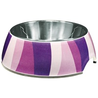 Dogit Style 2-in-1 Dog Dish- Purple Wild Stripes, Xsmall (160ml/5.4 fl oz)