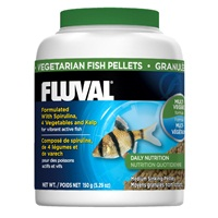 Fluval Vegetarian Medium Sinking  Pellets, 150 g (5.29 oz)
